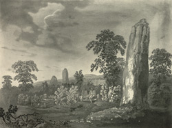 South view of the Pyramids of Devils Arrows at Boroughbridge